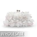 Toptie Petal Design Satin Evening Handbag - Wholesale