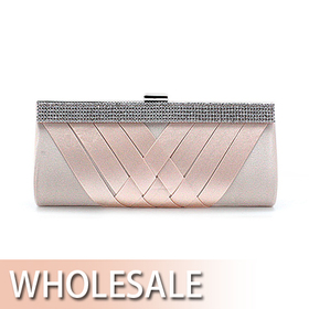 Toptie Cross Design Satin Evening Clutch - Wholesale