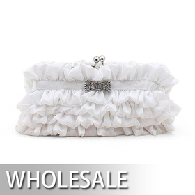 Toptie Tier Style Satin Evening Handbag - Wholesale