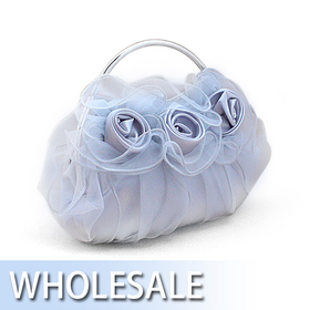 Toptie Organza Overlay Lovely Rose Evening Bag - Wholesale