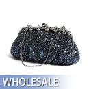 Toptie Luxurious Sequin & Bead Evening Handbag - Wholesale