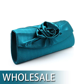 Toptie Simple Rose Satin Evening Handbag - Wholesale