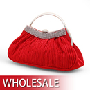 Toptie Half Round Handle Satin Evening Bag - Wholesale