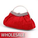 Toptie Half Round Handle Satin Evening Bag - Wholesale