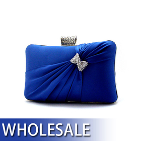 Toptie Rhinestone Bow Clutch Evening Handbag- Wholesale