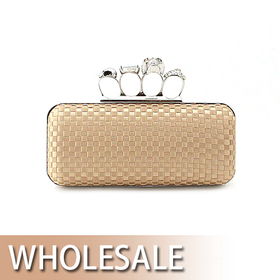 Toptie Crossbones Rings Evening Clutch Cool Handbag - Wholesale