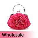 Toptie Stylish Rose Satin Clutch / Wedding Bag - Wholesale