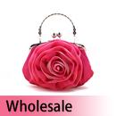 Toptie Stylish Rose Satin Clutch / Wedding Bag - Wholesale