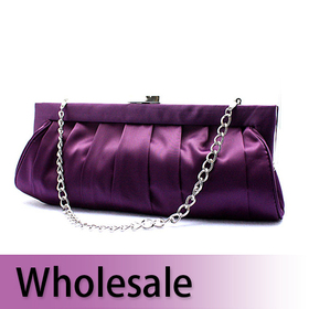 Elegant Satin Evening Bag Clutch - Wholesale