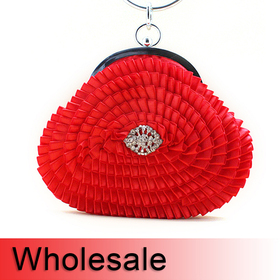 Toptie Circle Handle Spin Style Flower Design Purse - Wholesale