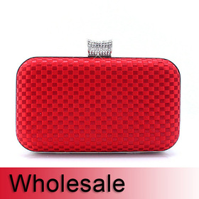 Toptie Check Pattern Evening Clutch Hard Box - Wholesale