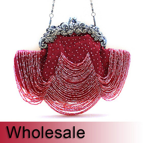 Toptie Chandelier Style Vintage Frame Beaded Purse - Wholesale