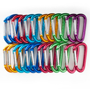 GOGO Wholesale Aluminum D-shaped Carabiners (Price/24pcs)