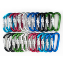GOGO Wholesale Aluminum D-shaped Locking Carabiners (Price/24pcs)