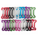 GOGO Wholesale Aluminum Bone-shaped Carabiners (Price/24pcs)
