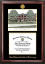 Campus Images IN994LGED Rose Hulman Institute of Technology Gold embossed diploma frame with Campus Images lithograph