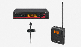 SENNHEISER Wireless Microphone Systems 100 Series, EW122G3 Body pack system, ME4 cardioid lavalier