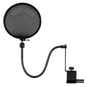 Shure PS-6 Popper Stopper dual layer Pop filter with metal gooseneck and heavy duty microphone stand clamp