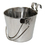 Flat-Sided Stainless Steel Pails with Hook, 6 qt