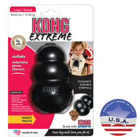 FURminator Kong Dog Extreme Toy Black, Large/Original