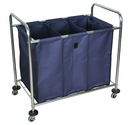 Luxor HL15 Industrial Laundry Cart With Dividers