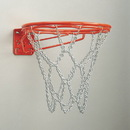 Bison BA37 Dbl Rim Fixed Front Mount Basketball Goal - Chain Net