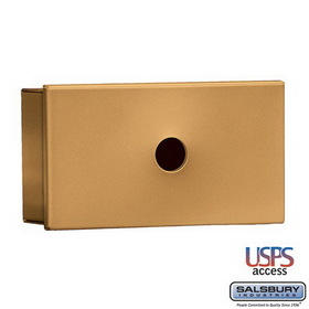 Salsbury Industries 1080BU Key Keeper - Brass - Surface Mounted - USPS Access