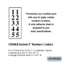 Salsbury Industries 1204BLK Custom Numbers / Letters - Vertical - Black Vinyl - 3 Inches High