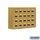 Salsbury Industries 19048-20GSC Cell Phone Storage Locker - 4 Door High Unit (8 Inch Deep Compartments) - 20 A Doors - Gold - Surface Mounted - Resettable Combination Locks