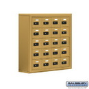 Salsbury Industries 19058-20GSC Cell Phone Storage Locker - 5 Door High Unit (8 Inch Deep Compartments) - 20 A Doors - Gold - Surface Mounted - Resettable Combination Locks