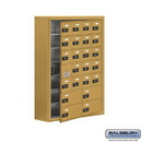 Salsbury Industries 19178-24GSC Cell Phone Storage Locker - with Front Access Panel - 7 Door High Unit (8 Inch Deep Compartments) - 20 A Doors (19 usable) and 4 B Doors - Gold - Surface Mounted