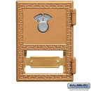 Salsbury Industries 2051CL Replacement Door and Lock - #1 Size - for Brass Mailbox - with Combination Lock