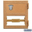 Salsbury Industries 2052CL Replacement Door and Lock - #2 Size - for Brass Mailbox - with Combination Lock