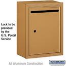 Salsbury Industries 2240BU Letter Box - Standard - Surface Mounted - Brass - USPS Access