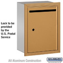 Salsbury Industries 2245BU Letter Box - Standard - Recessed Mounted - Brass - USPS Access