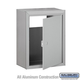 Salsbury Industries 2256ALM Receptacle - Option for Mail Drop - Aluminum