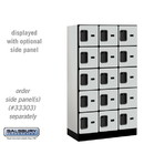 Salsbury 35358GRY Designer Wood Locker - Five Tier Box Style - 3 Wide - 5 Feet High - 18 Inches Deep - Gray