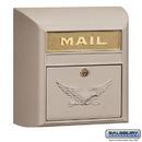 Salsbury Industries 4150E-BGE Modern Mailbox - Eagle Door - Beige