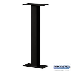 Salsbury Industries 4365BLK Standard Pedestal - Bolt Mounted - for Roadside Mailbox and Mail Chest - Black