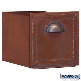 Salsbury Industries 4440 Antique Brass Column Mailbox - Recessed Mounted