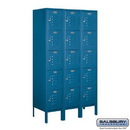 Salsbury Industries 65355BL-U Standard Metal Locker - Five Tier Box Style - 3 Wide - 5 Feet High - 15 Inches Deep - Blue - Unassembled