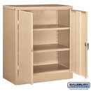 Salsbury Industries 9048TAN-U Storage Cabinet - Counter Height - 42 Inches High - 18 Inches Deep - Tan - Unassembled
