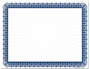Great Papers 961033 Blue Value Certificates - 100 Sheets/Pack