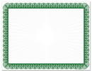 Great Papers 2014026 Green Value Certificates - 100 Sheets/Pack