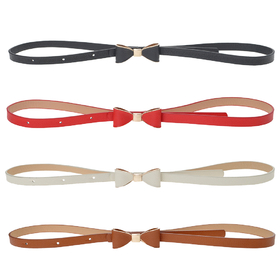TopTie Thin Waist Belt Cute Bow Buckle