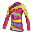 TopTie Wicking Cycling Jersey Long Sleeve Women's