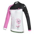 TopTie Women Cycling Jersey, Long Sleeve Breathable Jersey