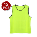TopTie Children Mesh Sports Practice Team Jerseys - Pinnies (12-Pack)