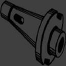 Michigan Drill HPD40-2 2Mt To 40 Drawbar End Adapter