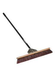"Midwest Rake 82925 24"" General Purpose Broom, 60"" Straight Blue Aluminum Handles, Price/each"